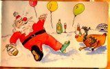 Claudia : Santa and Rudolph are painting the town red!